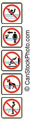 Swimming pool rules-Vertical type.