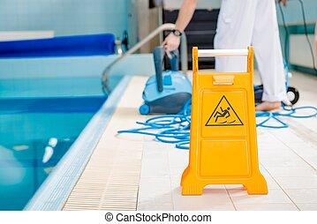 Swimming Pool Slippery Floor