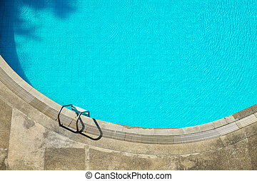 Swimming Pool Stair top view
