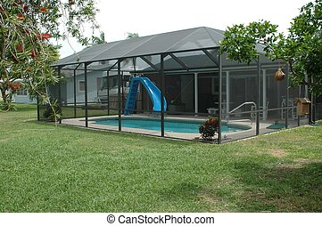 Swimming Pool - Photographed outdoor pool Florida