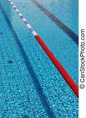 Swimming pool - Swimming lanes in an official size swimming...