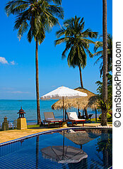 Swimming pool, Thailand. - Swimming pool by the sea on...