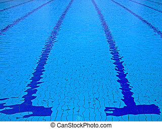 Swimming pool - Trembling surface of an Olympic size...