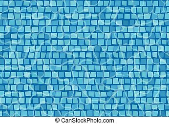 Swimming pool with mosaic tiles. Seamless pattern.