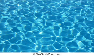swimming pool with ripple turquoise water background