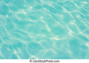 swimming pool with sunny reflections background