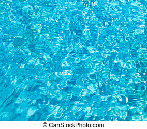 swimming pool with sunny reflections