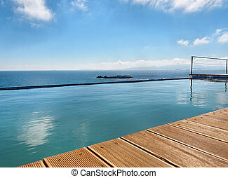 swimming pool with view to the ocean