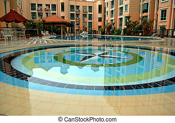 Swimming Pools and a clubhouse in a condo - Two Pools and a...