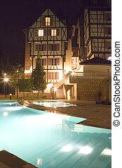 Swimming Pools at Night - Image of of swimming pools at...