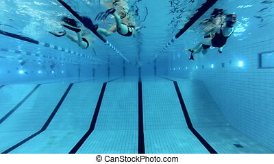 Swimming - Snorkeler and Swimmers in the swimming pool