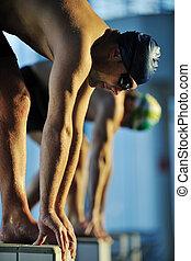 swimming start