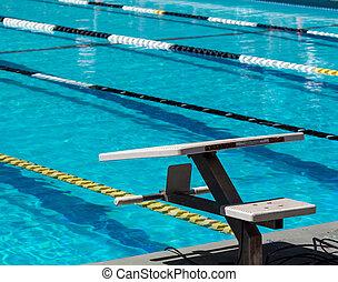 Swimming starting blocks
