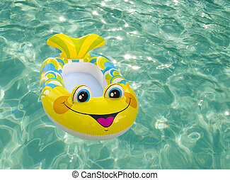 Swimming toy in a pool