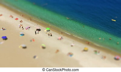 "swimming with miniature effect - ""swimming with miniature..."