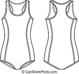 Swimsuit - Vector illustration of women's sport swimsuit....