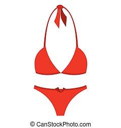 Swimsuit flat icon