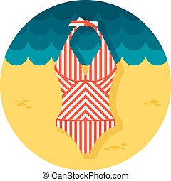 Swimsuit flat icon