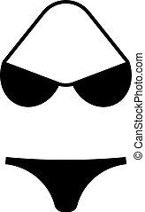 Swimsuit icon in black