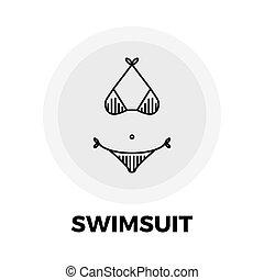 Swimsuit Line Icon