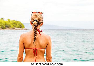 swimsuit, mulher