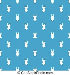 Swimsuit pattern seamless blue