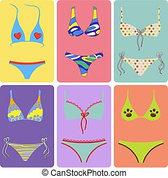 Swimsuits outlined set