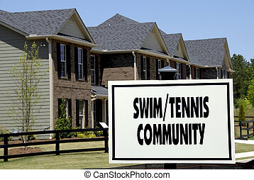 Swim/Tennis Community - Realty Sign advertising a new...