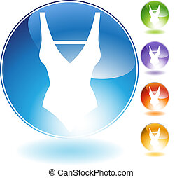 Swimwear Crystal Icon