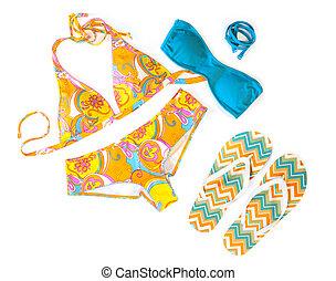 swimwear, kleurrijke