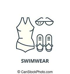Swimwear vector line icon, linear concept, outline sign, symbol