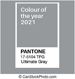 SWINDON, UK - JANUARY 19, 2020: Pantone Ultimate Gray Trending Color of the Year 2021. Color pattern, vector  illustration