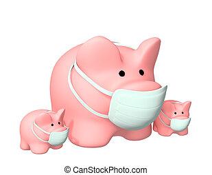 Swine flu - Conceptual image - epidemic of a swine flu