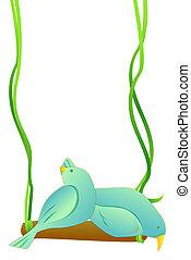 swing and bird