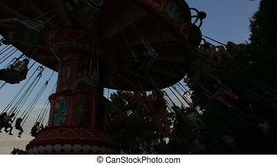 swing at amusement park