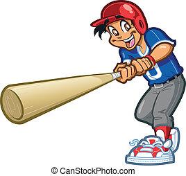 Swing Big Bat - Happy Smiling Baseball Softball Little...