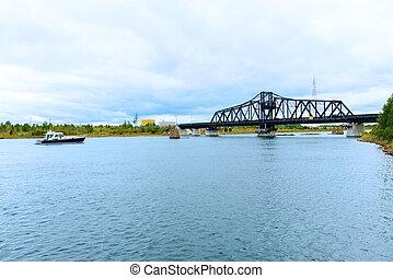 Swing Bridge Monitoulin Island, Ontario, Canada