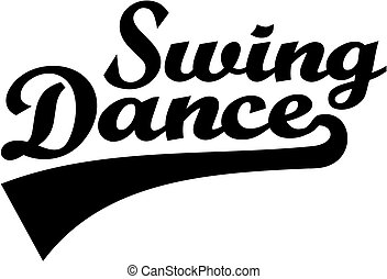 Swing dance retro word