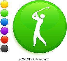 swing icon on round internet button