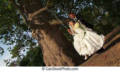 Swing in a park