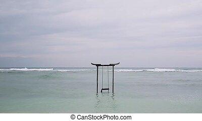 Swing in sea water