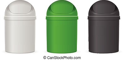 Swing lid trash cans