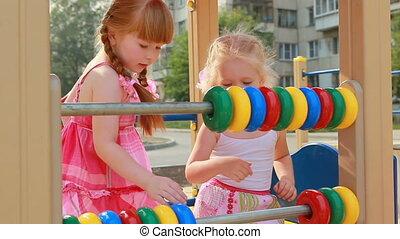 Swing - Little girl on swings