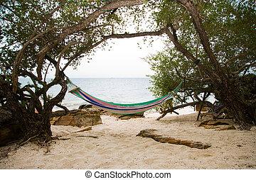 swing near sea