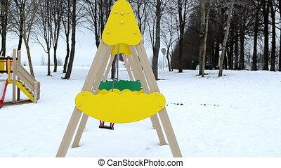 swing playground winter
