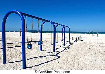 Swing Set on the Beach