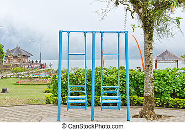 swing set on the playground