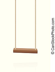 Swing Wooden Playground Toy Hanging Seat - Swing. Simple...