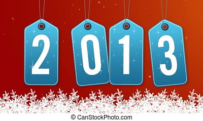 Swinging 2013 New Year tags