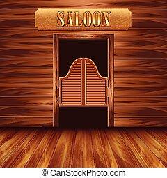 Swinging doors of saloon western - Swinging doors of saloon,...